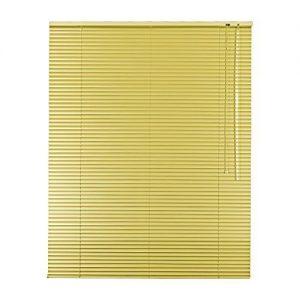 Persiana veneciana aluminio color amarillo